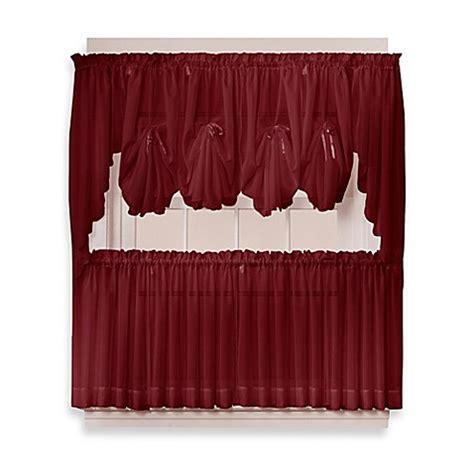 36 window curtains buy emelia 36 inch sheer window curtain tier pair in
