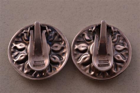 Retro Earring silver retro clip on candida earrings retro jewellery