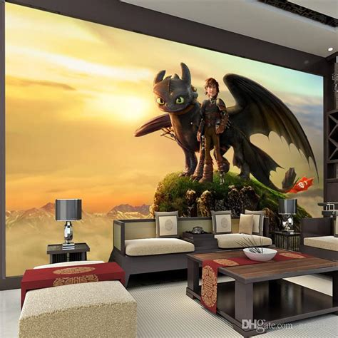 how to train your dragon bedroom personalized custom wall mural large size how to train