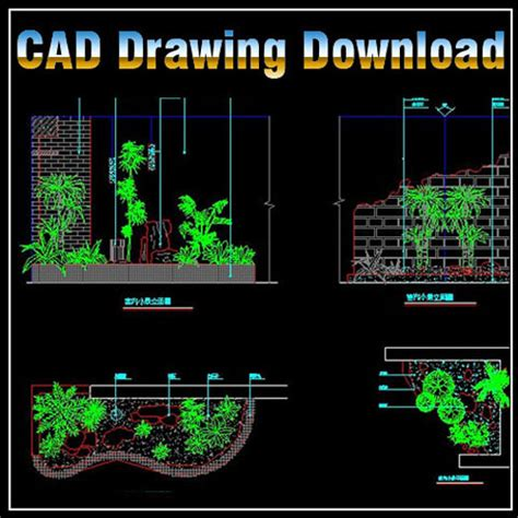 landscape templates for autocad landscape design free cad blocks drawings download