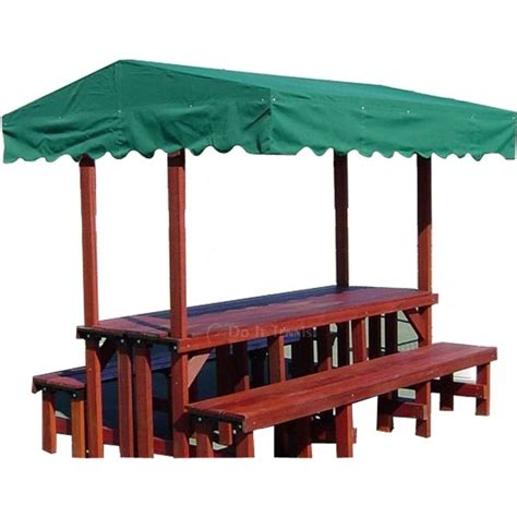 gazebo benches mangaris wood double bench double table gazebo 3325