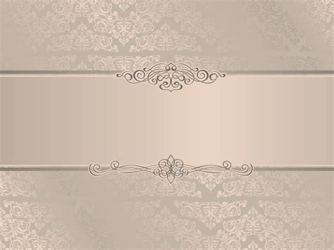 Elegant Wedding Invitation Backgrounds Beige Border Frames Design White Templates Free Wedding Powerpoint Templates