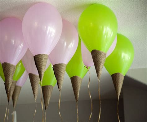 Ice cream social party ice cream cone balloon tutorial pretty prudent