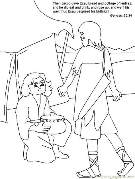 jacob and esau coloring pages images jacob and esau coloring page coloring home