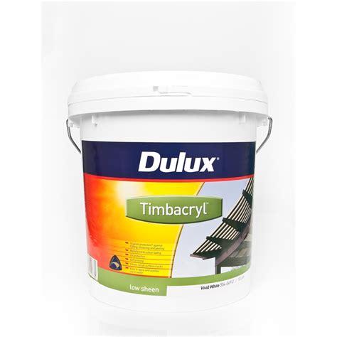 acrylic paint bunnings dulux timbacryl 10l white bunnings warehouse