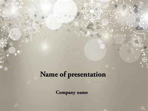 download free cold winter powerpoint template for your