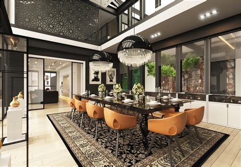 Dining Room At The Modern Dining Rooms That Mix Classic And Ultra Modern Decor