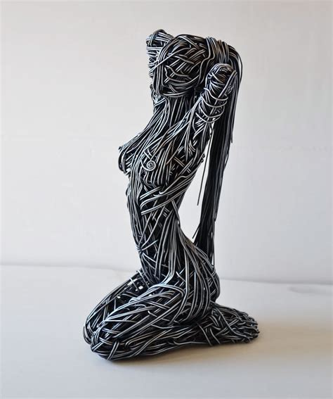 can sculpture stunning wire sculptures capture the movement of the human