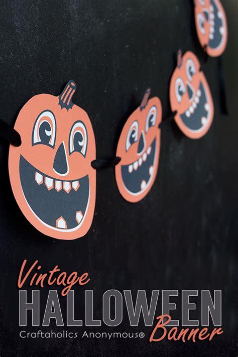 printable pumpkin banner craftaholics anonymous 174 free vintage halloween banner