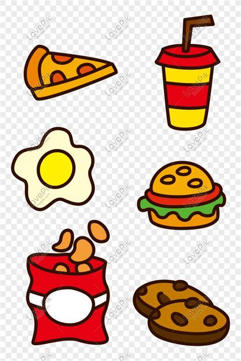 gambar makanan kartun burger moa gambar