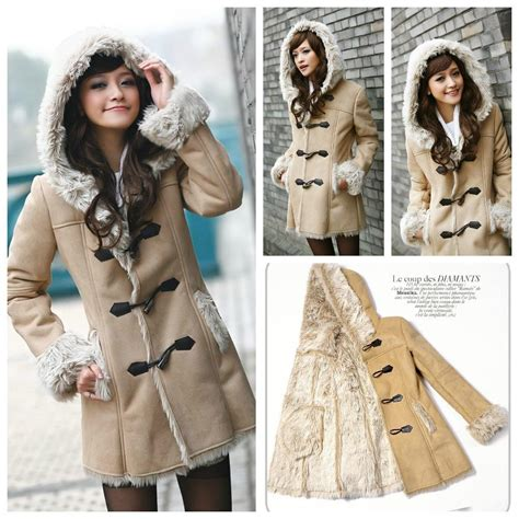 Baju Warm Wanita f309529 baju musim dingin warm suede wool coat coat korea