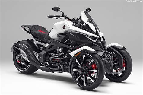 Honda 3 Wheel Motorcycle Honda Reveals Neowing Three Wheel Concept Motorcycle Usa