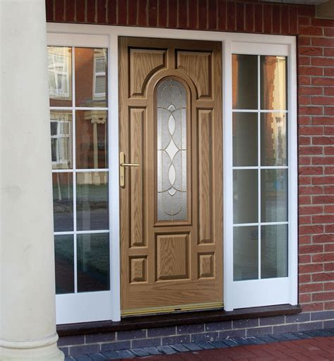 Front Doors With Side Panels Black Composite Front Door With Side Panel Door Design