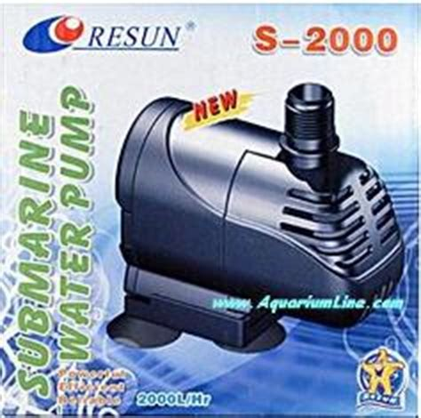 Pompa Aquarium 2m resun s 2000 pompa portata 2000 l h prevalenza 2m consumo