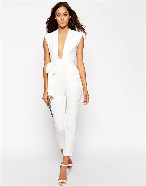 Jumsuit Overoll asos asos plunge front tailored jumpsuit at asos