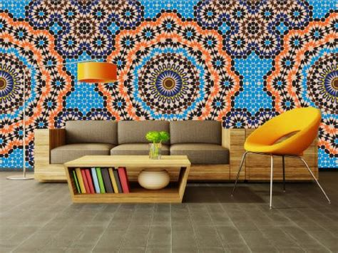 moroccan wall mural wallpaper murals moroccan mosaic murals and those were