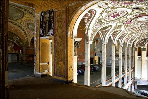 former theater makes the most beautiful parking garage in the car park theatre of detroit