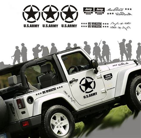 jeep wrangler military decals 13 army vehicle graphics images army military vehicle