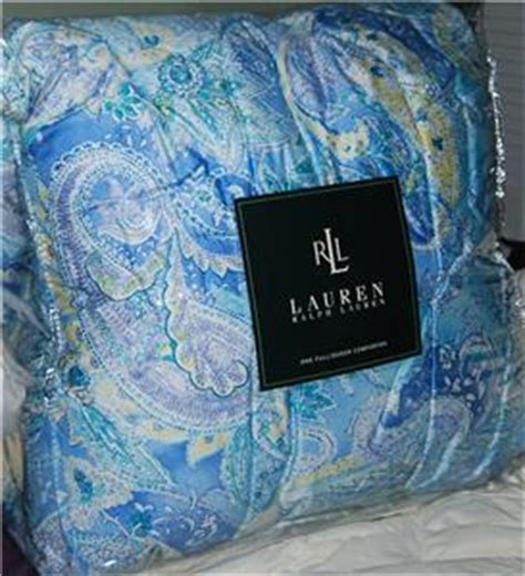 ralph lauren blue paisley comforter ralph lauren jamaica blue paisley queen comforter new ebay