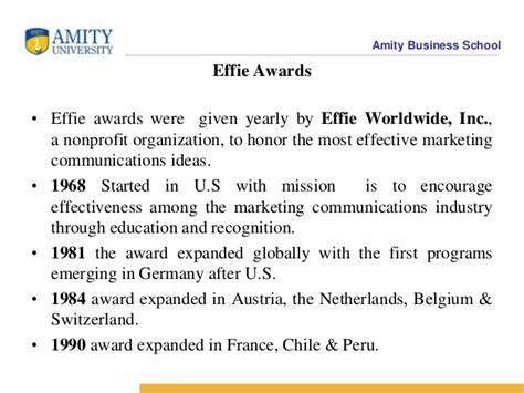Amity Mba Recognition by Advertising Awards