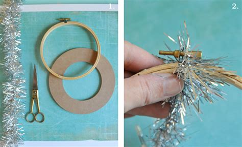 diy 5 minute tinsel garland wreath home creature