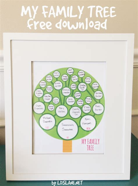 family tree project printable printable my family tree