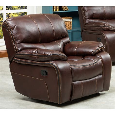 Leather Sofa And Recliner Set by Roundhill Furniture Ewa 3 Reclining Leather Living