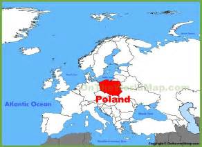 Poland On World Map by Poland Location On The Europe Map