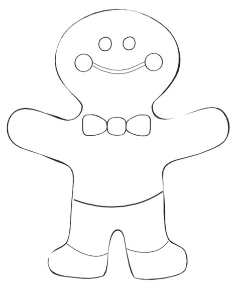 gingerbread man coloring page pdf gingerbread man coloring page
