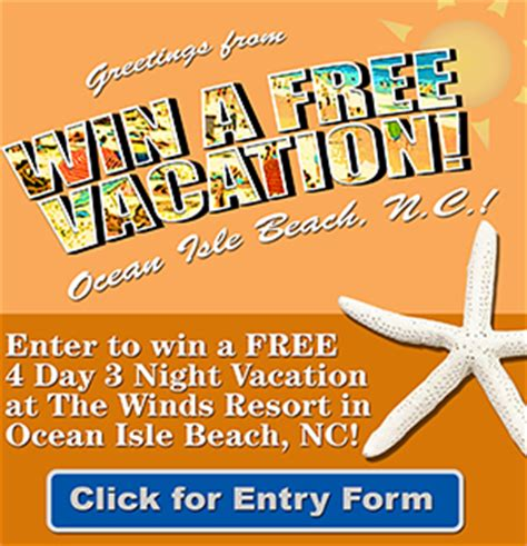 Free Vacation Giveaways - winner of the free vacation giveaway oak island nc vacation guide to oak island nc