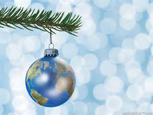 earth globe christmas ornament