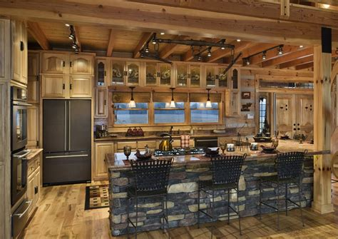 Rustic Kitchen Island With Extra Good Looking Accompaniment Kitchen Lighting Island