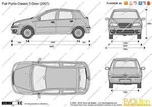 Fiat Punto Dimensions The Blueprints Vector Drawing Fiat Punto Classic 5