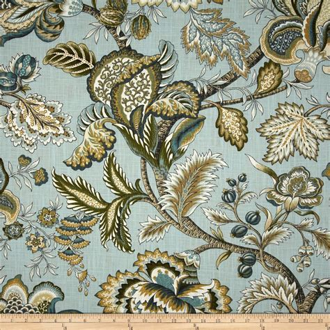 Jacobean Upholstery Fabric by Robert Allen Home Crypton Jacobean Swag Slub Mineral