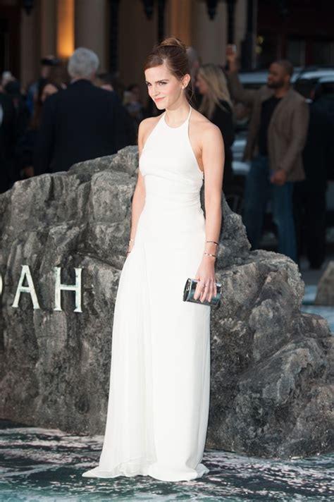 emma watson wedding emma watson in a white dress at london premiere of noah