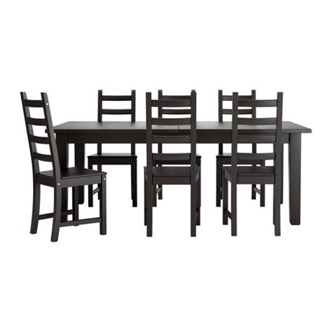 Ikea Dining Table And 6 Chairs Storn 196 S Kaustby Table And 6 Chairs Ikea