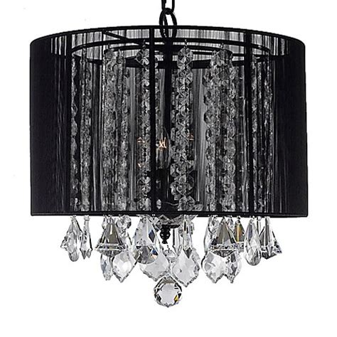 Black Swag Chandelier Gallery 3 Light Swag Chandelier With Black Shade Bed Bath Beyond