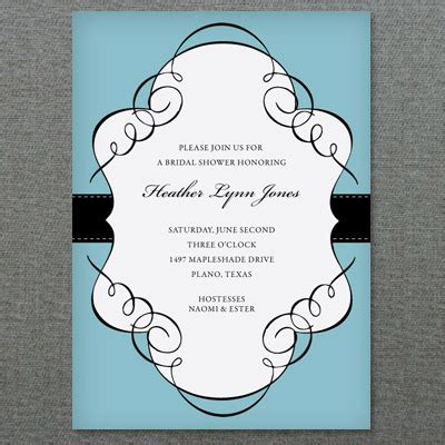 scroll frame bridal shower invitation template
