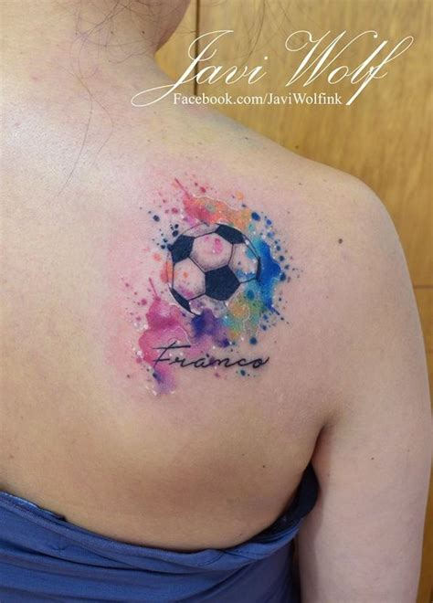 small soccer tattoos javi wolf soccer watercolor cool tattoos