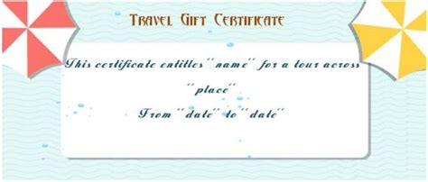 Vacation Gift Card Template by Vacation Gift Certificate Template 34 Word Psd Files