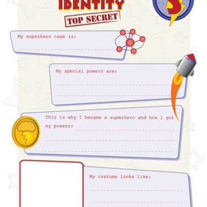 Secret Identity Card Template by Secret Identity And I D Card Great Activity For