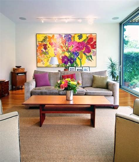 livingroom paintings decorate using oversized art a few ideas and suggestions