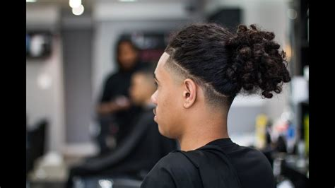 long taper fade with long hair bald taper w long hair or braids on top barberjdub