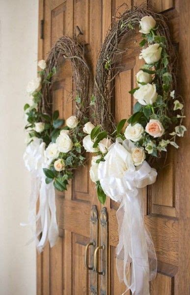 Wreaths   Wedding Reception Decor   Wedding entrance