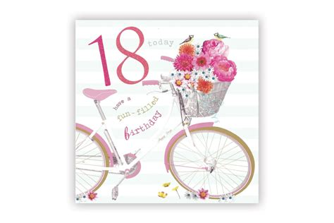 18th Birthday Cards Happy 18th Birthday Bicycle Greeting Card Cyclemiles
