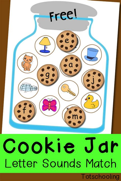 cookie jar letter sounds matching totschooling toddler