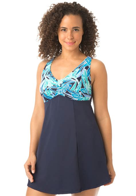 Print Swim Dress print bodice empire swimdress by swim 365 174 plus size