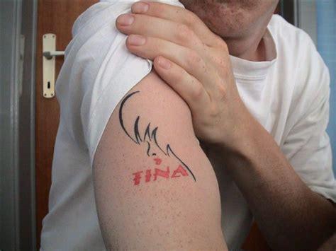 tattoo name tina tina turner fan of the month sidney the tina turner blog