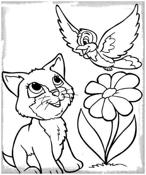 imagenes de gatitos kawaii para colorear dibujos de gatos y perros para colorear archivos gatitos