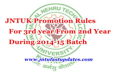Jntu Mba Syllabus 2014 15 by Jntuk Promotion For 3rd Year From 2nd Year During